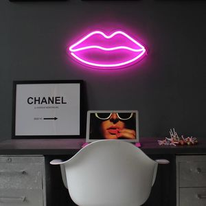 Neon Lips LED Light Decoration - wall lights