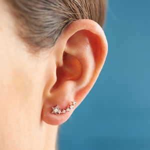 Shooting Star Stud Earrings - jewellery