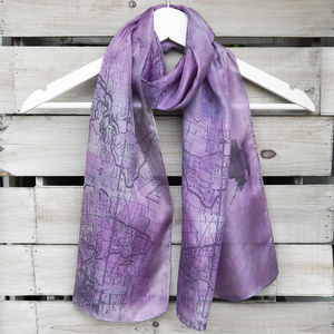 Sailing Map Silk Scarf