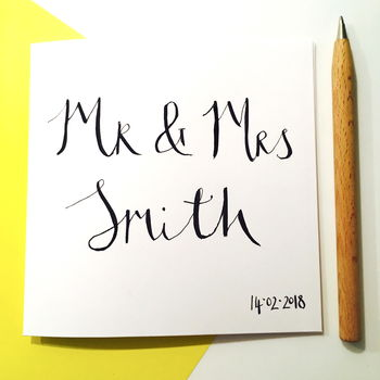 Personalised Wedding Couple Card
