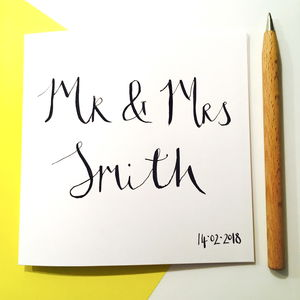 Personalised Wedding Couple Card - wedding cards