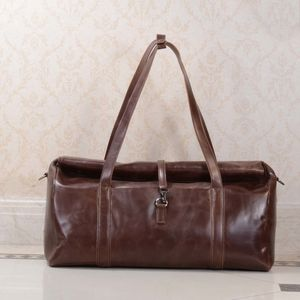 Leather Travel Holdall Bag Gift For Grandfather - fashion sale