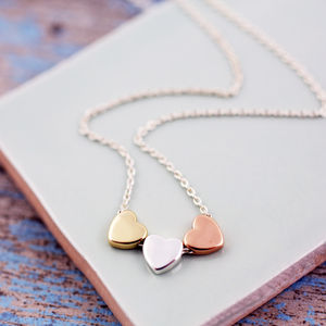Mixed Metal Mini Heart Necklace