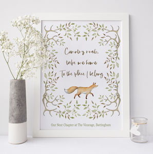 New Home Gift Country Living Fox And Antlers - family & home
