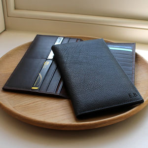 Men's Slim Leather Dress Wallet - wallets
