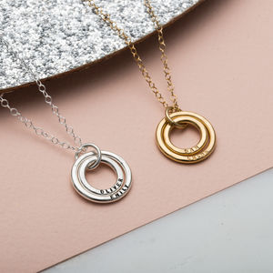 Personalised Baby Names Necklace - gifts for new mums