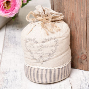La Maison French Grey Door Stop - door stops & draught excluders