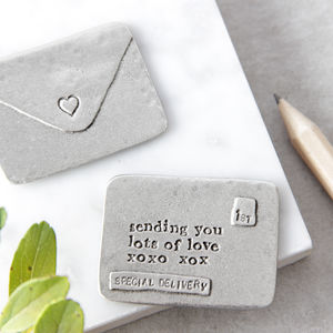 'Sending You Lots Of Love' Envelope Token - 'thinking of you' gifts