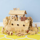Deluxe Natural Wood Noah's Ark Playset + 24 Characters