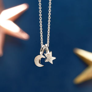 Silver And Gold Twilight Moon And Star Necklace - christmas clothing & accessories