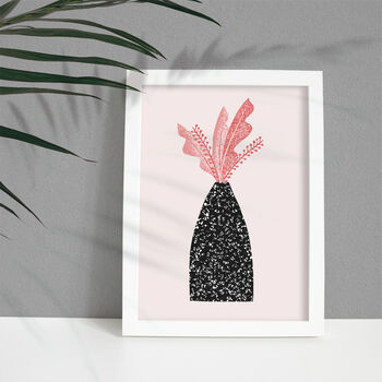 'Leaves In Speckled Vase' Art Print