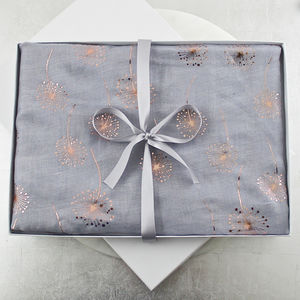 Metallic Dandelion Cotton Scarf