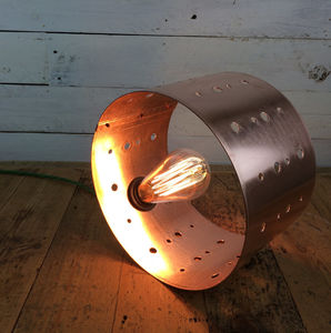 Lynmouth Hand Rolled And Drilled Copper Table Lamp