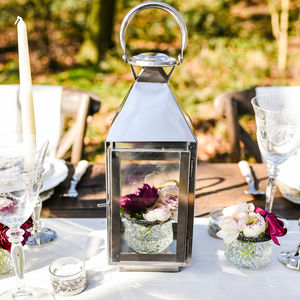 Silver Lantern For Weddings - lighting