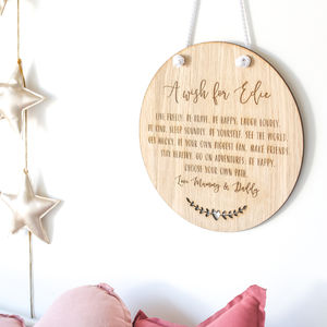 'A Wish For…' Girl's Christening Gift