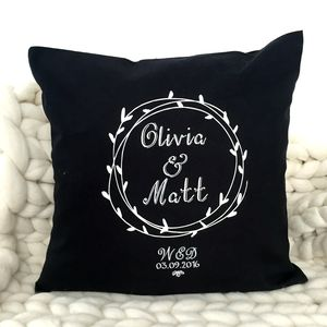 'Wedding Dates' Cushion Wedding Gift