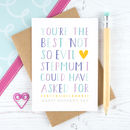 Best Not So Evil Stepmum Mother's Day Card