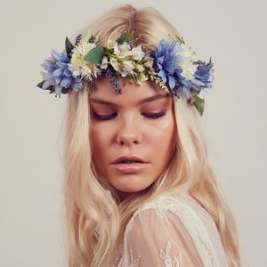 Cambridge Floral Meadow Crown Garland Headband - bridal hairpieces