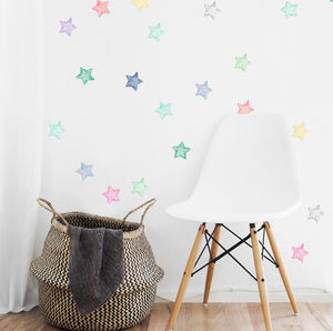 Watercolour Stars Wall Stickers