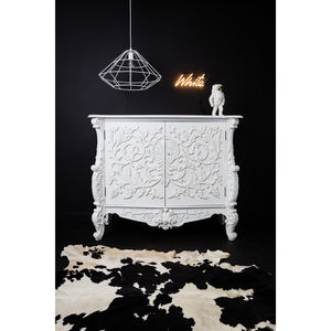 Baroque Cupboard In White Or Silver