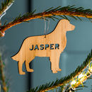 Personalised Bamboo Pet Christmas Decoration