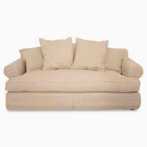 Kingswood Natural Linen Two And A Half Seater Sofa