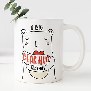 Personalised Bear Hug Mug - graduation gifts