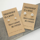 Friendship Knot Silver Earrings Standard and Large Size Comparison