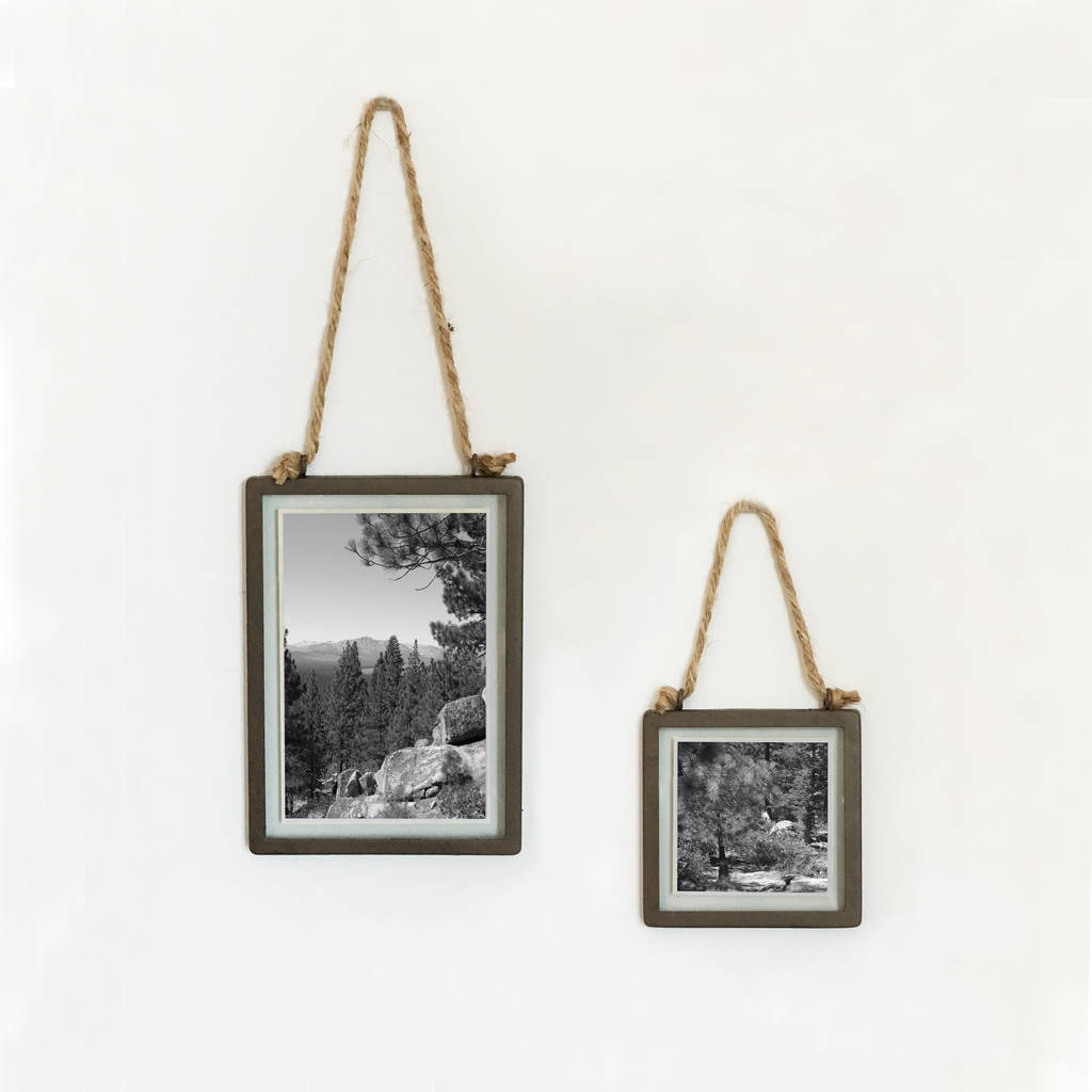 Industrial Style Hanging Photo Frame By The Den & Now