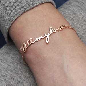 Personalised All My Love Bracelet - winter sale