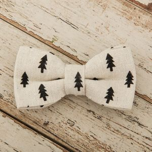 The Balmoral Black And Cream Fir Tree Bow - dogs
