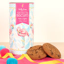 Tropical Flamingo Triple Chocolate Chip Biscuits