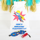 Personalised Superhero Children's Sleepover Kit