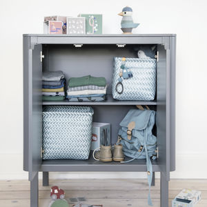 Dark Grey Two In One Changing Unit - chests of drawers