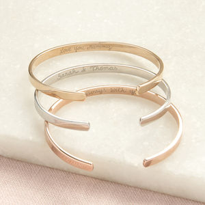 Personalised Open Bangle - bracelets & bangles
