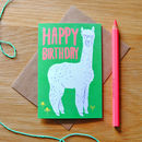 Illustrated Alpaca Birthday Card