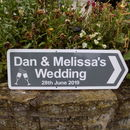 Personalised Wedding Sign With Illustrations