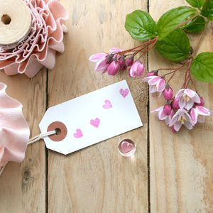 Tiny Heart Crystal Clear Stamp - ribbon & gift tags