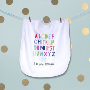 Personalised Alphabet Bib - whatsnew