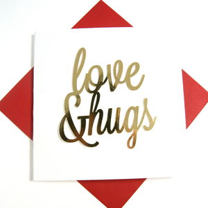 Love And Hugs Card - new in