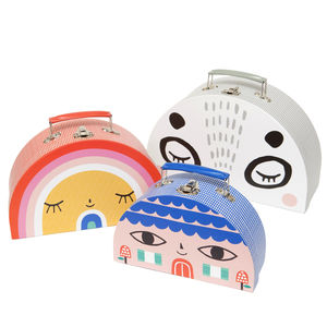 Children's Panda And Friends Nesting Storage Suitcases