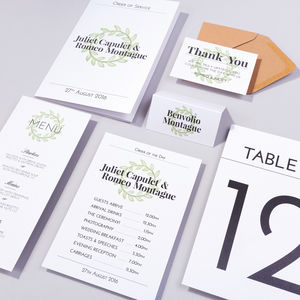 Table Plan, Numbers, Place Cards, Menus : St Clement's