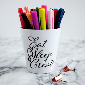 Creativity Quote Pen Holder Desk Tidy