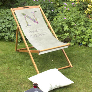Personalised Letter Beach And Garden Deckchair - garden furniture