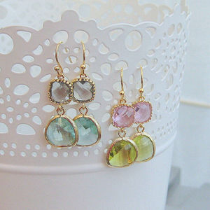 Esme Glass Drop Earrings