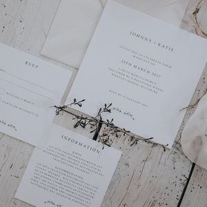 Spring Romance Wedding Invitation Set - place cards