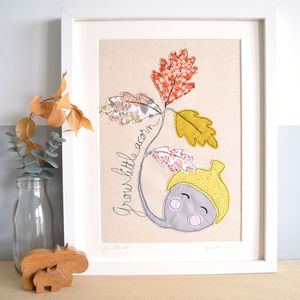 Woodland Nursery Embroidered Personalised Picture