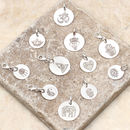 Personalised Sterling Silver Boho Symbol Disc Charms
