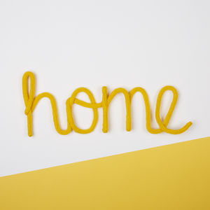 'Home' Knitted Wire Word Sign - decorative letters