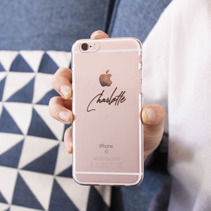Personalised Typography iPhone Case - womens